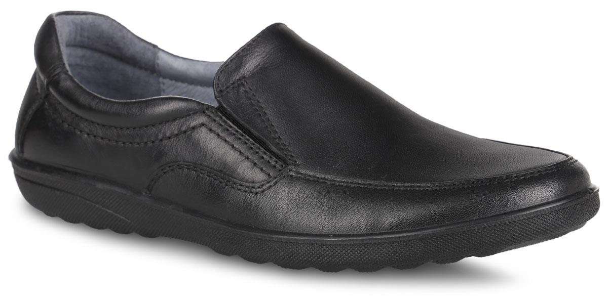 Полуботинки для мальчиков. 2341423414Стильные полуботинки займут достойное место среди коллекции обуви вашего мальчика. Модель полностью выполнена из натуральной кожи. Изделие фиксируется на ноге с помощью резинок на подъеме. Стелька из натуральной кожи дополнена супинатором с перфорацией, который обеспечивает правильное положение стопы ребенка при ходьбе и предотвращает плоскостопие. Мягкий манжет создает комфорт при ходьбе и предотвращает натирание ножки ребенка. Подошва, выполненная из качественного полиуретана, оснащена рифлением для лучшего сцепления с поверхностью. Такие полуботинки заинтересуют вашего ребенка с первого взгляда.