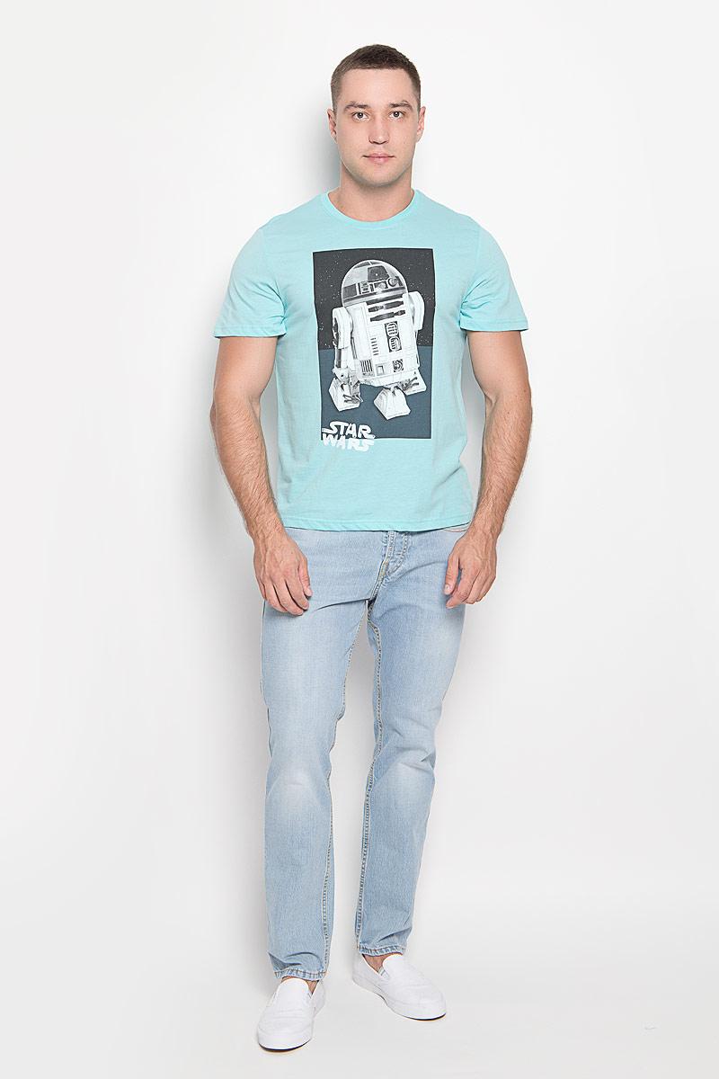 Футболка42968Оригинальная мужская футболка RHS Star Wars, выполненная из высококачественного хлопка, обладает высокой теплопроводностью, воздухопроницаемостью и гигроскопичностью, позволяет коже дышать. Модель с короткими рукавами и круглым вырезом горловины, оформлена принтом спереди на тему культовой фантастической саги Звездные войны. Горловина дополнена эластичной трикотажной резинкой. Идеальный вариант для тех, кто ценит комфорт и качество.