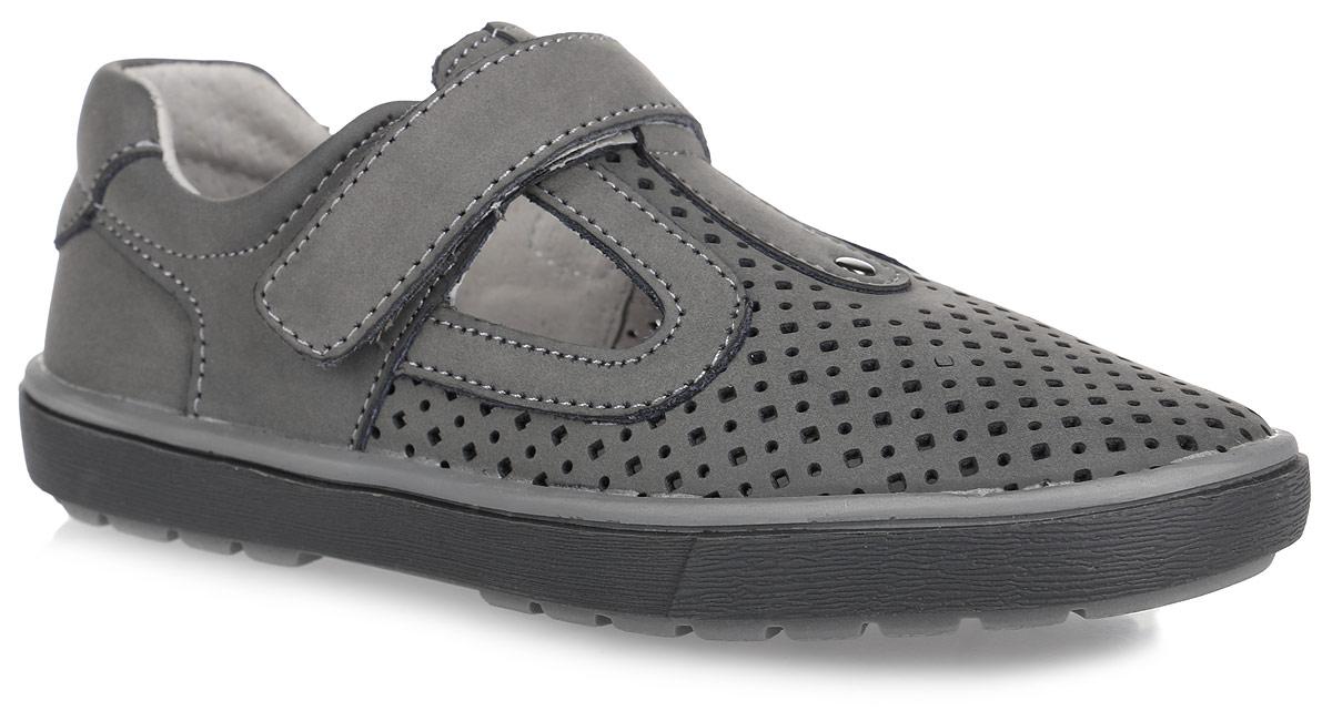 Туфли для мальчика. 532110532110-21Стильные туфли от Котофей придутся по душе вашему мальчику. Модель выполнена из натуральной кожи и оформлена перфорацией. Ремешок с застежкой-липучкой надежно зафиксирует ножку ребенка. Внутренняя поверхность из натуральной кожи не натирает. Стелька из материала ЭВА с поверхностью из натуральной кожи комфортна при движении. Рифление на подошве обеспечивает отличное сцепление с любой поверхностью. Стильные туфли - незаменимая вещь в гардеробе каждого мальчика!