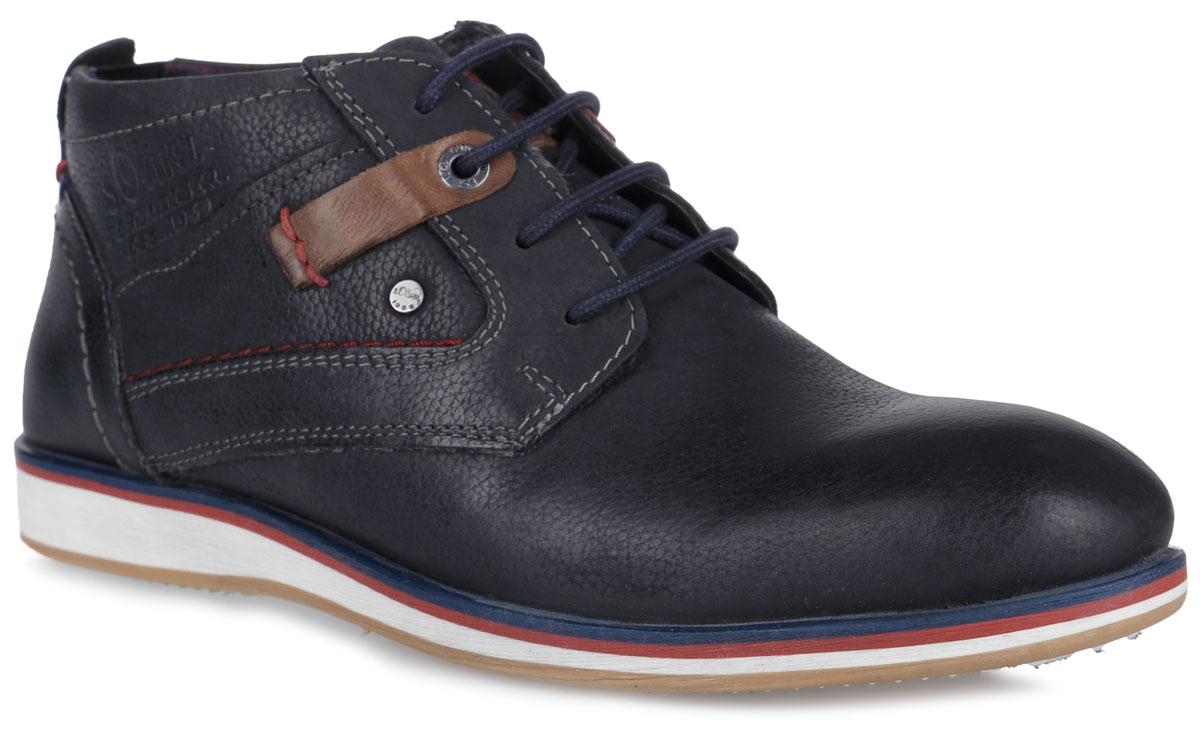 5-5-15108-27-805Стильные мужские ботинки от S.Oliver покорят вас с первого взгляда! Модель, выполненная из натуральной кожи, оформлена контрастной прострочкой, сбоку - фирменным тиснением и металлическим элементом с гравировкой бренда, на язычке - фирменной нашивкой, на подошве - контрастными полосками. Классическая шнуровка обеспечивает надежную фиксацию обуви на ноге. Подкладка из текстиля и стелька из материала ЭВА с поверхностью из натуральной кожи гарантируют комфорт при движении. Стелька дополнена перфорацией, которая позволяет ногам дышать. Задняя часть модели оснащена эластичной вставкой, которая обеспечивает идеальную посадку модели на ноге. Прочная подошва с рельефным рисунком обеспечивает сцепление с любой поверхностью. Такие ботинки займут достойное место в вашем гардеробе.