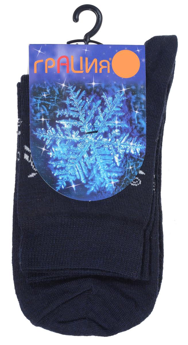 НоскиМ 1114Женские носки Грация выполнены из тонкой шерсти с добавлением полиамида и лайкры. Материал мягкий и приятный на ощупь, хорошо пропускает воздух. Эластичная резинка мягко облегает ногу, обеспечивая комфорт при носке. Изделие оформлено круговым рисунком с узорами. Теплые и удобные носки станут отличным дополнением к вашему гардеробу!