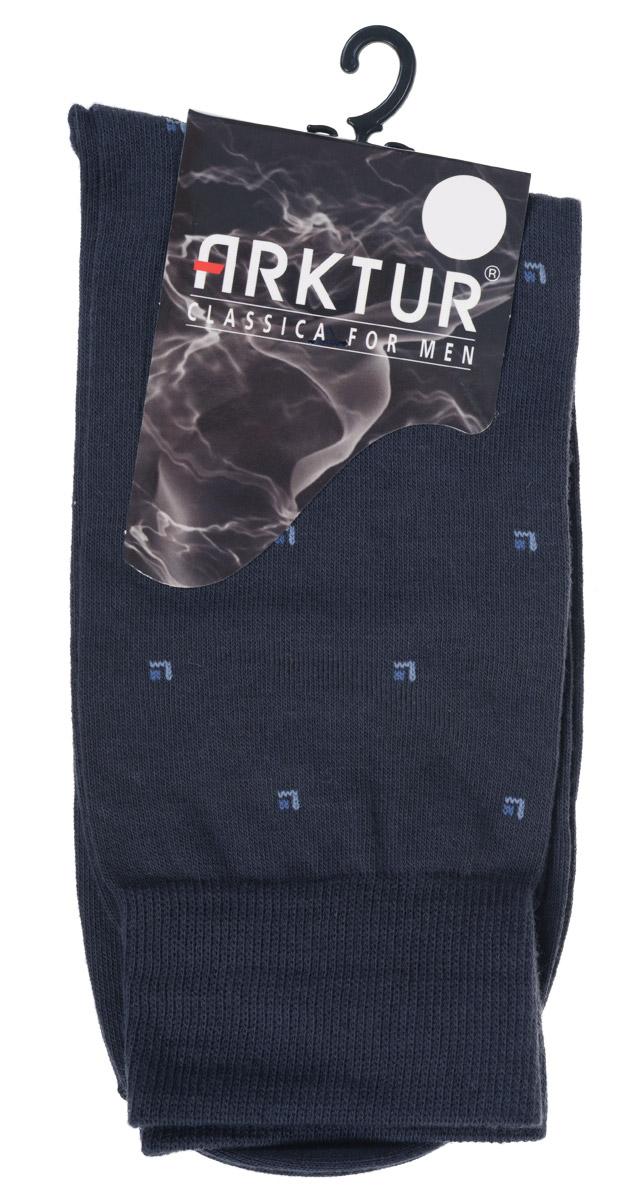Л 209Мужские носки Arktur изготовлены из хлопка с добавлением полиамида. Материал тактильно приятный, хорошо пропускает воздух. Носки дополнены комфортной эластичной резинкой. Изделие оформлено мелким абстрактным принтом. Удобные и прочные носки станут отличным дополнением к вашему гардеробу.