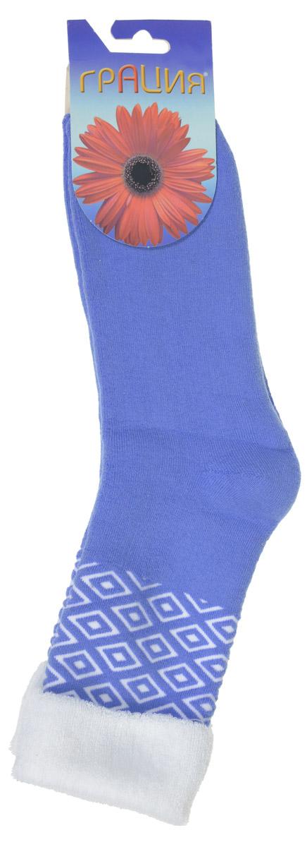 НоскиМ 1084Женские теплые носки Грация, изготовленные из высококачественного комбинированного материала, очень мягкие и приятные на ощупь, позволяют коже дышать. Эластичная резинка плотно облегает ногу, не сдавливая ее, обеспечивая комфорт и удобство. Махровые носки со удлиненным паголенком, который оформлен геометрическим паголенком и дополнен отворотом контрастного цвета. Удобные и комфортные носки великолепно подойдут к любой вашей обуви.