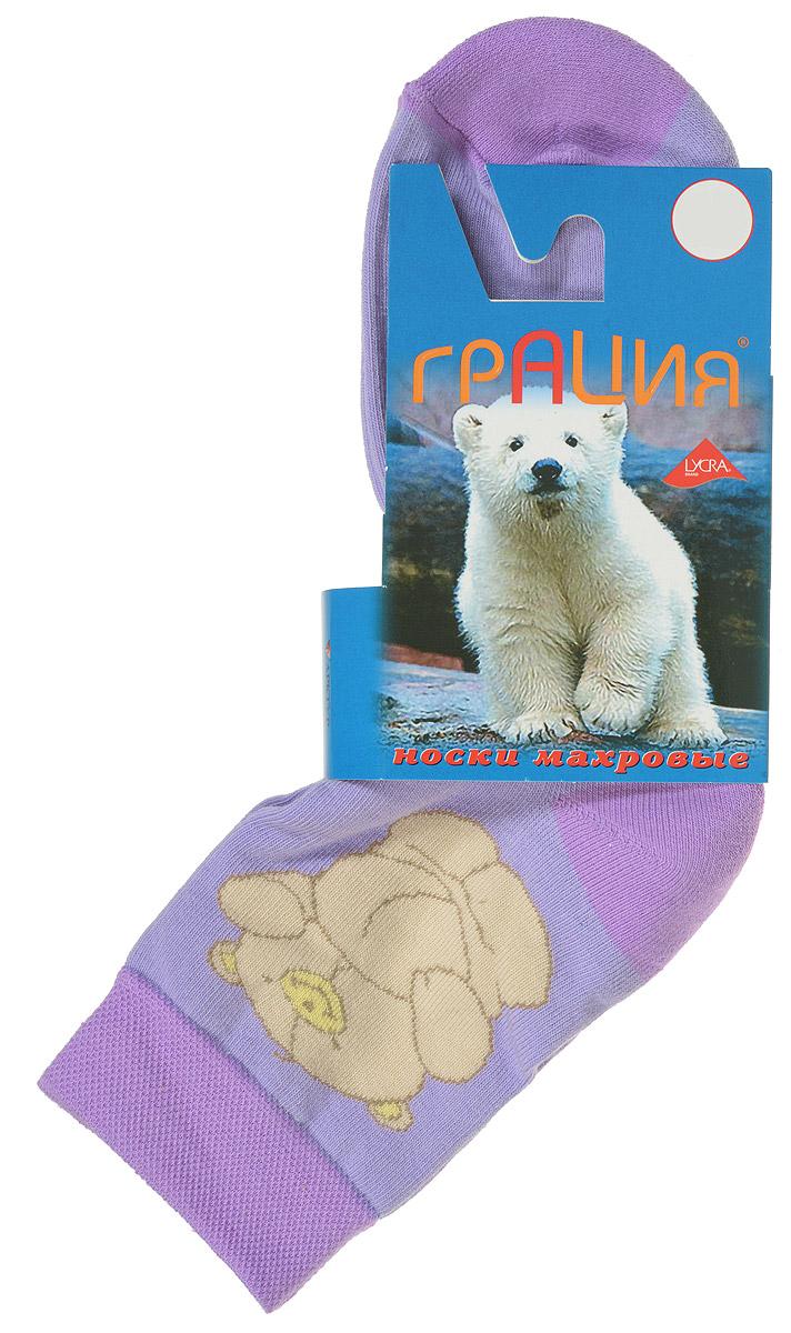 НоскиМ 1083Женские теплые носки Грация, изготовленные из высококачественного комбинированного материала, очень мягкие и приятные на ощупь, позволяют коже дышать. Эластичная, резинка плотно облегает ногу, не сдавливая ее, обеспечивая комфорт и удобство. Нижняя часть носка выполнена из махры. Носки со стандартным паголенком, который оформлен рисунком забавного медвежонка. Удобные и комфортные носки великолепно подойдут к любой вашей обуви.