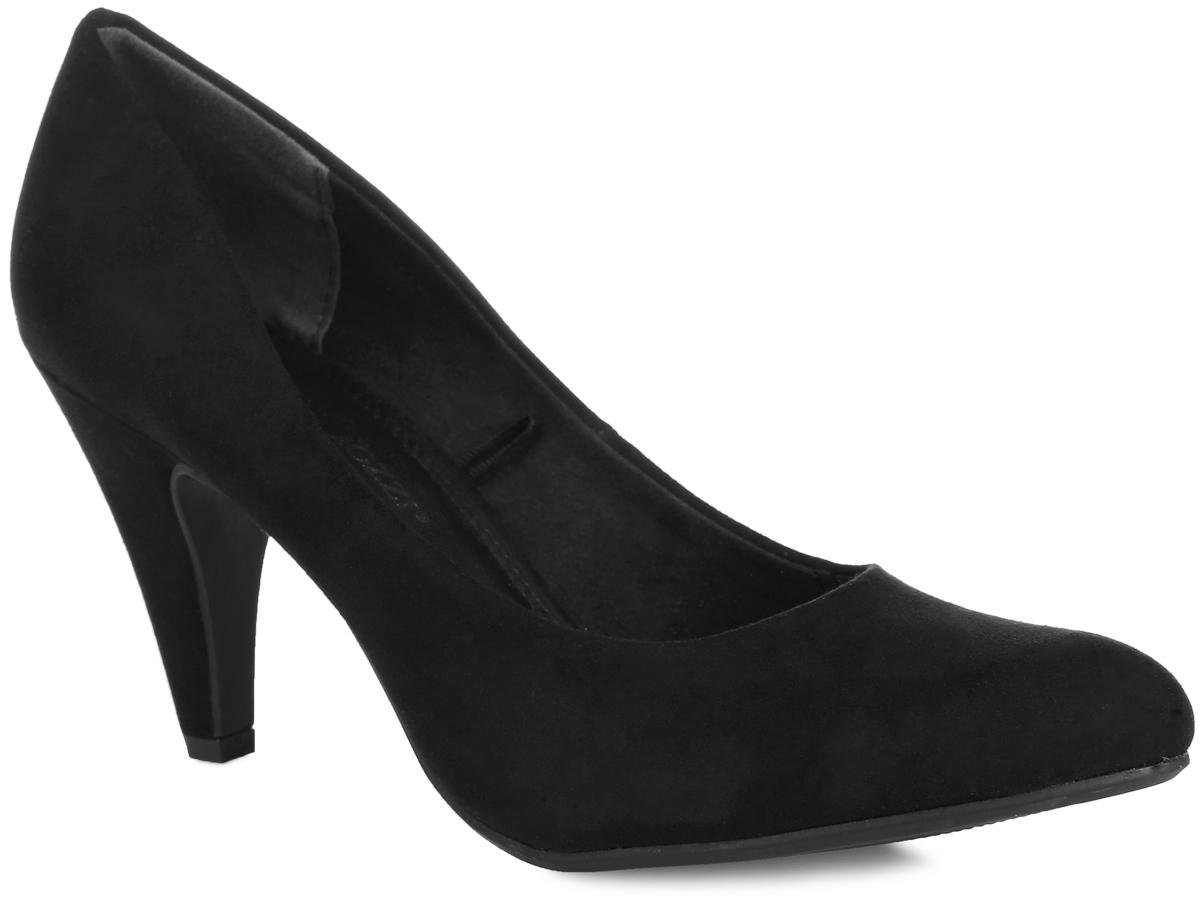 Туфли женские. 2-2-22428-262-2-22428-26-341Элегантные женские туфли от Marco Tozzi займут достойное место в коллекции вашей обуви. Модель изготовлена из мягкого, приятного на ощупь текстиля. Невероятно удобная стелька, выполненная из комбинации искусственной кожи и текстиля, и текстильная подкладка обеспечат комфорт при движении. Заостренный носок добавит женственности в ваш образ. Высокий каблук устойчив. Подошва с рельефным протектором обеспечивает идеальное сцепление с любой поверхностью. В таких туфлях вашим ногам будет уютно и комфортно! Они прекрасно дополнят ваш повседневный образ.