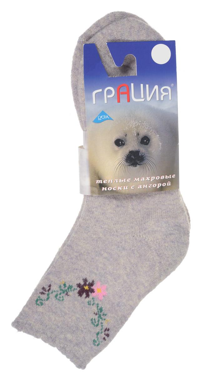 НоскиМ 1106Теплые женские носки Грация, изготовленные из высококачественного комбинированного материала, очень мягкие и приятные на ощупь, позволяют коже дышать. Эластичная резинка плотно облегает ногу, не сдавливая ее, обеспечивая комфорт и удобство. Махровые носки имеют паголенок стандартной длинны и оформлены цветочным принтом. Удобные и комфортные носки великолепно подойдут к любой вашей обуви.