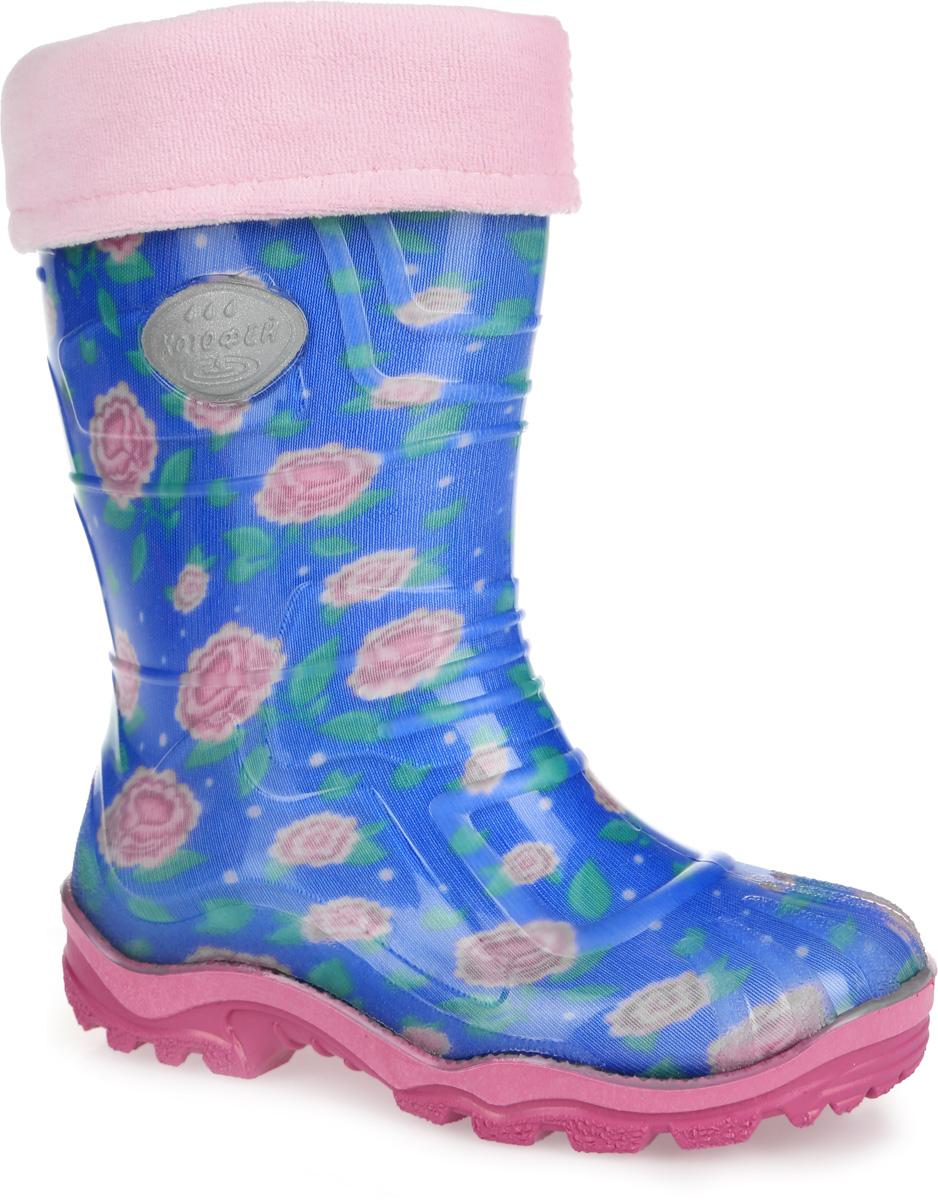 Резиновые сапоги для девочки. 566111-11566111-11Яркие резиновые сапожки Котофей для девочки - идеальная обувь в дождливую погоду. Модель выполнена из резины и ПВХ. Она оформлена принтом с изображением симпатичных цветов и вставкой с названием бренда. Сапоги дополнены съемной утепленной текстильной подкладкой, которая обеспечивает полный уют и комфорт при носке. Утолщенная рельефная подошва из ПВХ выполнена с высокой устойчивостью к истиранию. Стильные и практичные резиновые сапожки прекрасно защитят ножки вашего ребенка от промокания в дождливый день.
