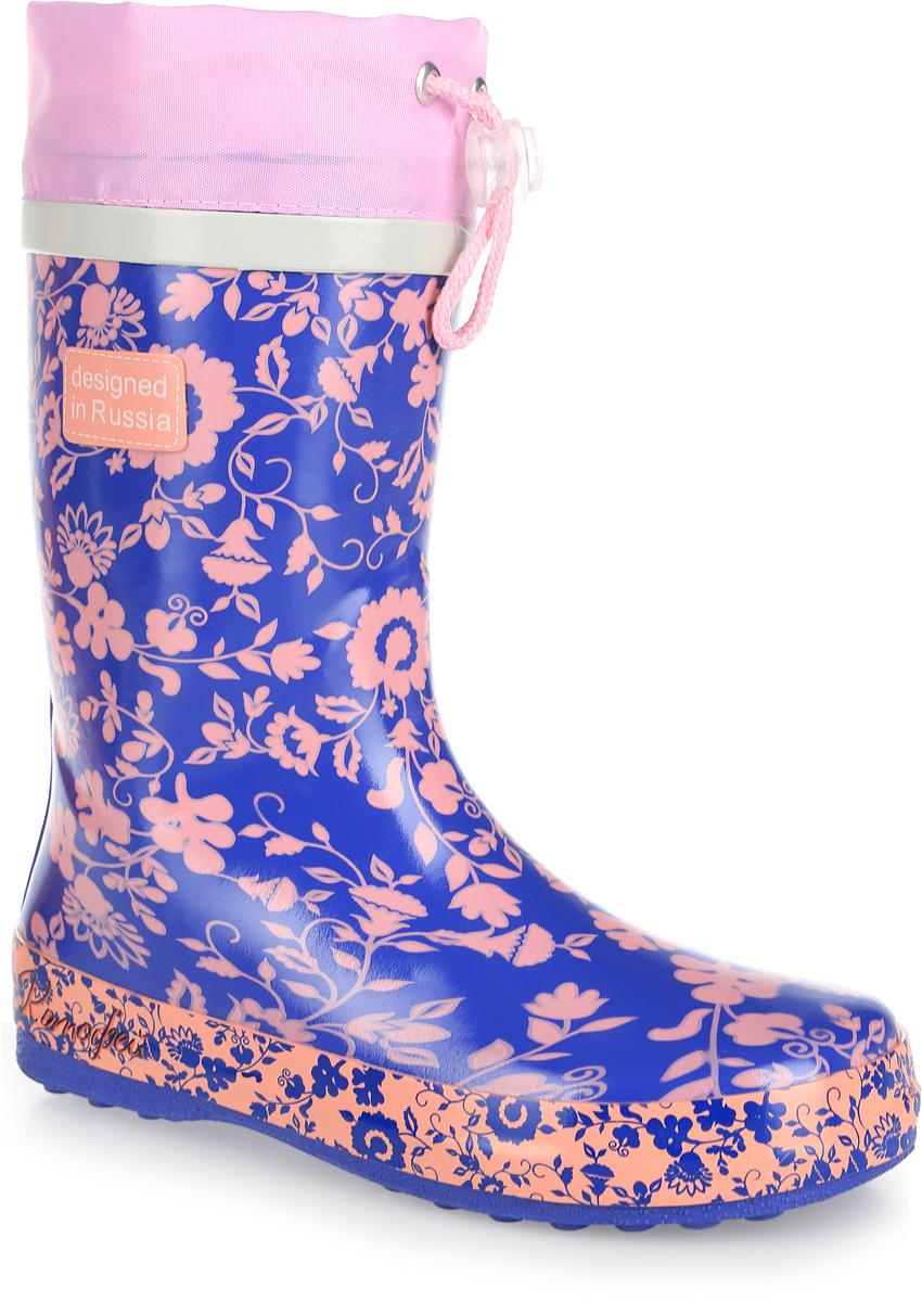 Резиновые сапоги для девочки. 566101-11566101-11Прелестные резиновые сапожки Котофей для девочки - идеальная обувь в дождливую погоду. Сапоги выполнены из качественной резины. Модель оформлена принтом с изображением цветов. Подкладка и съемная стелька выполнены из утепленных текстильных материалов, которые обеспечивают полный комфорт при носке. Также сапоги дополнены текстильным верхом, объем которого регулируется с помощью шнурка с фиксатором. Утолщенная рельефная резиновая подошва выполнена с высокой устойчивостью к истиранию. Резиновые сапожки прекрасно защитят ножки вашего ребенка от промокания в дождливый день.