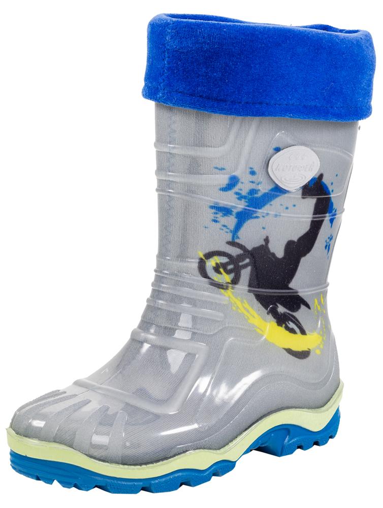 Сапоги для мальчика. 566108-11566108-11Яркие, красочные модные резиновые сапожки. Выполнены из современных материалов. Присутствие мягкого вкладного носка, сделаного из высококачественных текстильных материалов, обеспечивает детсой ножке комфорт и уют.