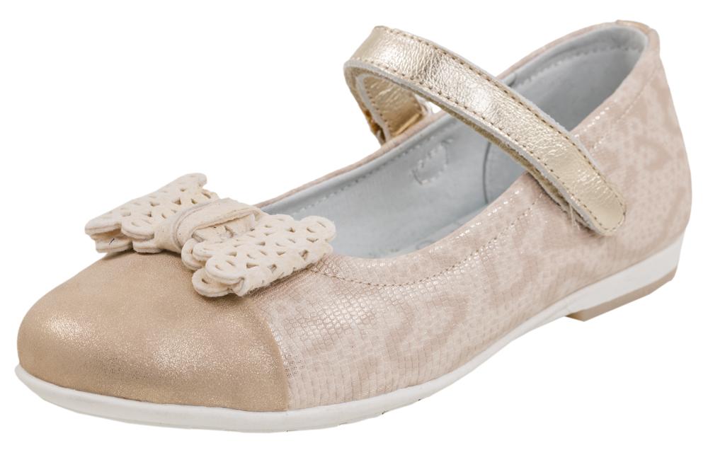 533012-22Туфли-балетки для девочки выполнены из высококачественной искуственной кожи. Праздничные нарядные украсят ножку Вашего ребенка!