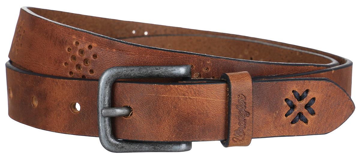 РеменьW0A52UK81Стильный женский ремень Wrangler станет отличным дополнением к вашему образу. Ремень изготовлен из натуральной коровьей кожи и оформлен оригинальной перфорацией. Пряжка выполнена из качественного металла, у основания которой имеется тиснение с названием фирмы. Такой оригинальный ремень превосходно подчеркнет ваш стиль и индивидуальность.