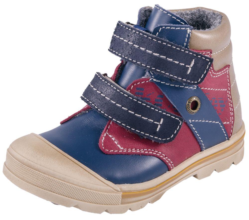 052105-31Стильные ботинки на подкладке байка с верхом из натуральной кожи. Удобная застежка-две липучки позволяет надежно зафиксировать обувь на стопе, легко обувать и снимать ботинки. Подошва с небольшим каблучком гарантирует удобство даже при долгих осенних прогулках.