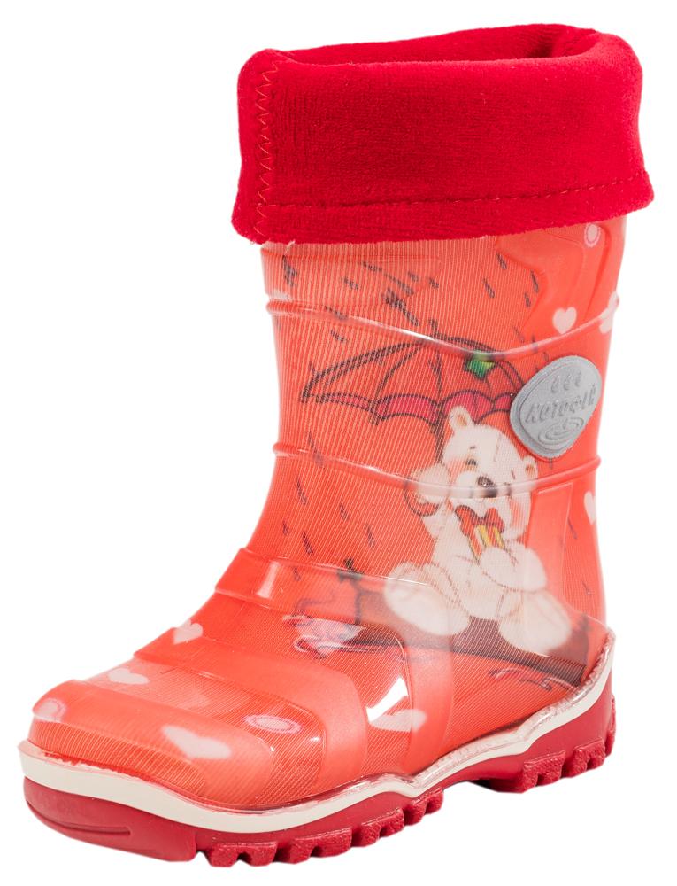 Сапоги для девочки. 266011-11266011-11Яркие, красочные модные резиновые сапожки. Выполнены из современных материалов. Присутствие мягкого вкладного носка, сделаного из высококачественных текстильных материалов, обеспечивает детсой ножке комфорт и уют.
