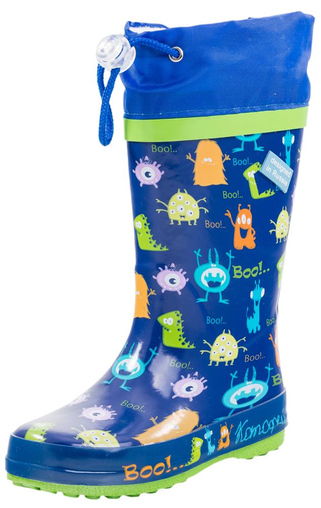 Сапоги для мальчика. 266014-11266014-11Яркие, красочные модные резиновые сапожки! Сделаны из современных материалов. Отсутствие застежки позволяет удобно и быстро обувать и снимать их.