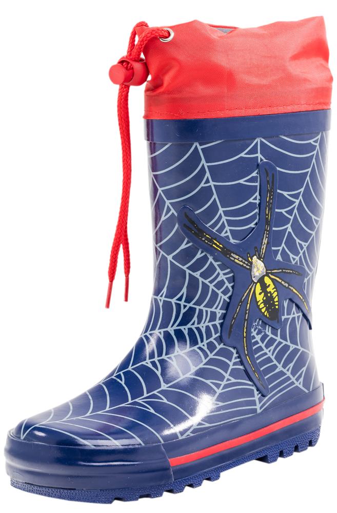 Сапоги для мальчика. 366132-11366132-11Яркие, красочные модные резиновые сапожки! Сделаны из современных материалов. Отсутствие застежки позволяет удобно и быстро обувать и снимать их.