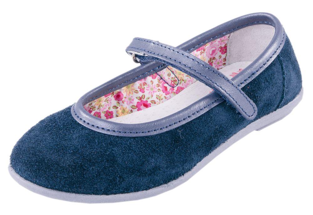 Туфли для девочки. 432107-73432107-73Туфли дошкольные выполнены в популярном цвете. Материал верха обуви натуральный, водоотталкивающий велюр. Подкладка комбинированная с ярким, цветочным принтом на текстильном материале. Подошва клеевого метода крепления. На ноге модель фиксируется благодаря липучке.