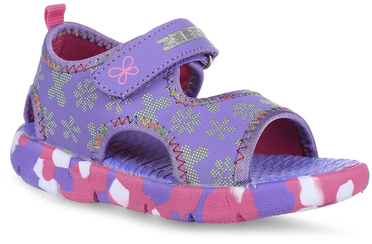 Сандалии для девочки. 10339-2010339-20Замечательные открытые сандалии от Зебра придутся по душе вашей девочке. Модель, выполненная из искусственной кожи и текстиля, оформлена цветочным рисунком и текстильной окантовкой с разноцветной отстрочкой. Внутренняя поверхность изготовлена из текстиля, что предотвращает натирание и гарантирует уют. Ремешок с застежкой-липучкой позволяет прочно зафиксировать ножку ребенка. Задник дополнен ярлычком для более удобного надевания. Стелька из ЭВА материала с рельефной поверхностью предотвращает выскальзывание ноги. Филоновая подошва с рифлением обеспечивает идеальное сцепление с любыми поверхностями. Такие сандалии подойдут для прогулок в жаркую погоду!