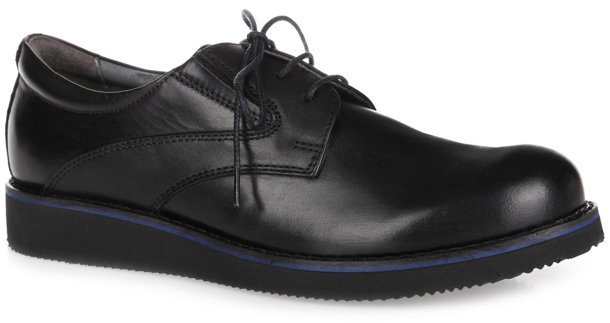 Туфли для мальчика. 24413-124413-1Стильные классические туфли от Kapika придутся по душе вашему сыну! Модель полностью выполнена из натуральной кожи и оформлена прострочкой. Шнуровка и эластичные боковые вставки надежно зафиксируют изделие на ноге ребенка. Подкладка и стелька, изготовленные из натуральной кожи, предотвратят натирание и гарантируют уют. Стелька из ЭВА материала с поверхностью из натуральной кожи дополнена супинатором с перфорацией, который обеспечивает правильное положение стопы ребенка при ходьбе и предотвращает плоскостопие. Подошва изготовлена из качественных полимерных материалов, а ее рифленая поверхность гарантирует отличное сцепление с любыми поверхностями. Удобные и стильные туфли - незаменимая вещь в гардеробе каждого школьника!