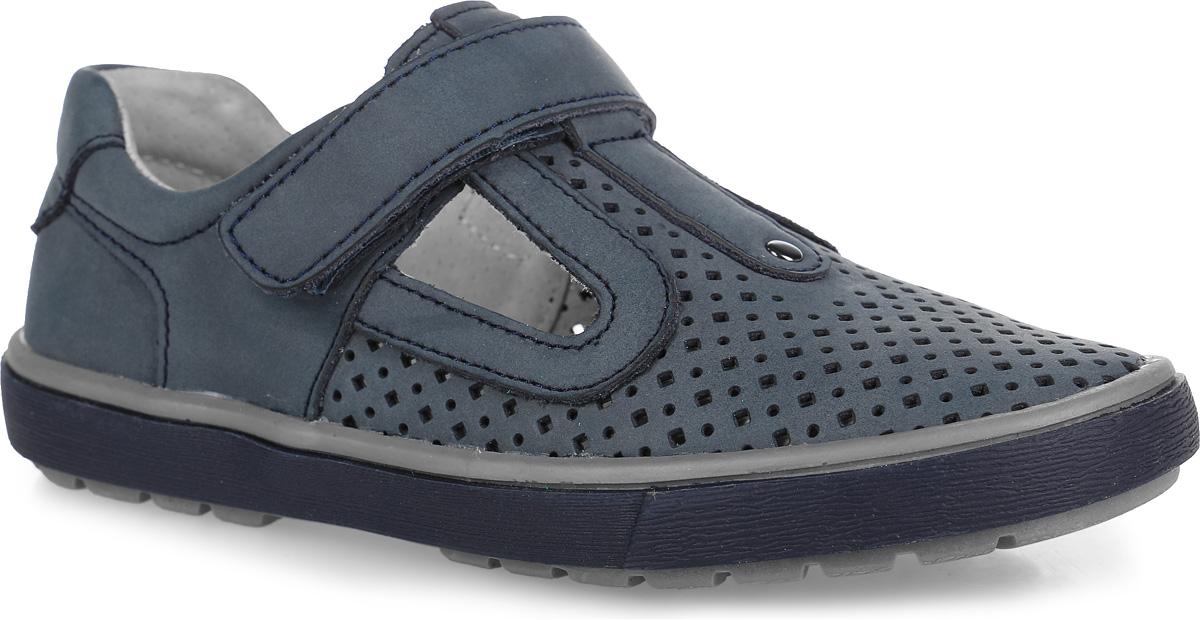 532110-21Стильные туфли от Котофей придутся по душе вашему мальчику. Модель выполнена из натуральной кожи и оформлена перфорацией. Ремешок с застежкой-липучкой надежно зафиксирует ножку ребенка. Внутренняя поверхность из натуральной кожи не натирает. Стелька из материала ЭВА с поверхностью из натуральной кожи комфортна при движении. Рифление на подошве обеспечивает отличное сцепление с любой поверхностью. Стильные туфли - незаменимая вещь в гардеробе каждого мальчика!