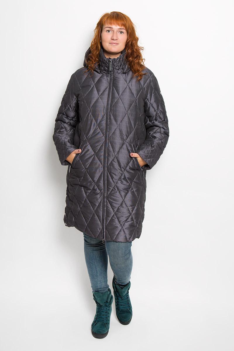 ПальтоA16-11026_319Удобное женское пальто Finn Flare согреет вас в холодную погоду и позволит выделиться из толпы. Удлиненная модель с длинными рукавами и воротником-стойкой выполнена из прочного полиэстера, застегивается на молнию спереди. Пальто имеет съемный капюшон на кнопках, объем которого регулируется при помощи шнурка-кулиски со стопперами. Изделие дополнено двумя втачными карманами на застежках-молниях спереди. Пальто оформлено стеганым узором. Плотный наполнитель из пера и пуха надежно сохранит тепло, благодаря чему такое пальто защитит вас от ветра и холода. Это модное и в то же время комфортное пальто - отличный вариант для прогулок, оно подчеркнет ваш изысканный вкус и поможет создать неповторимый образ.