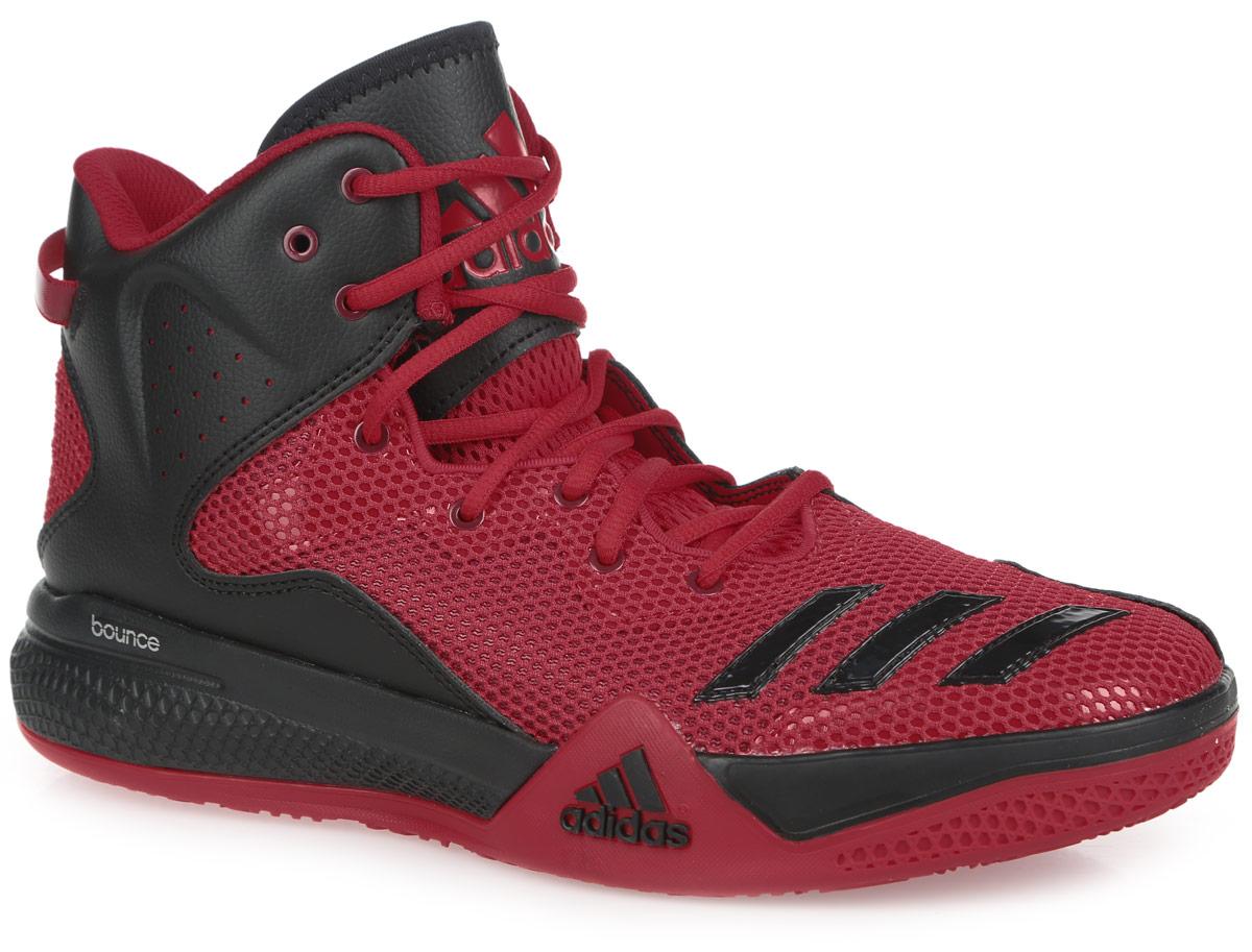 Кроссовки мужские для баскетбола DT BBall Mid. AQ775AQ7754Стильные высокие кроссовки DT BBall Mid от adidas Performance идеально подойдут для занятия баскетболом. Модель выполнена из сетчатого текстиля и дополнена вставками из искусственной кожи, которые обеспечивают поддержку ноги. Мыс оформлен тремя полосками из ПВХ, боковые стороны - перфорацией, язычок - нашивкой с фирменным тиснением. Классическая шнуровка надежно зафиксирует изделие на стопе. Текстильная подкладка и мягкий манжет предотвратят натирание и гарантируют уют. Стелька из материала ЭВА с текстильной поверхностью обеспечит лучшую амортизацию. Промежуточная подошва bounce предназначена для поглощения ударных нагрузок. Уплотненный задник защитит ноги от ударов. Текстильная петля на заднике облегчает надевание модели. Рельефная поверхность подошвы обеспечивает отличное сцепление с любой поверхностью. Такие кроссовки придутся вам по душе.