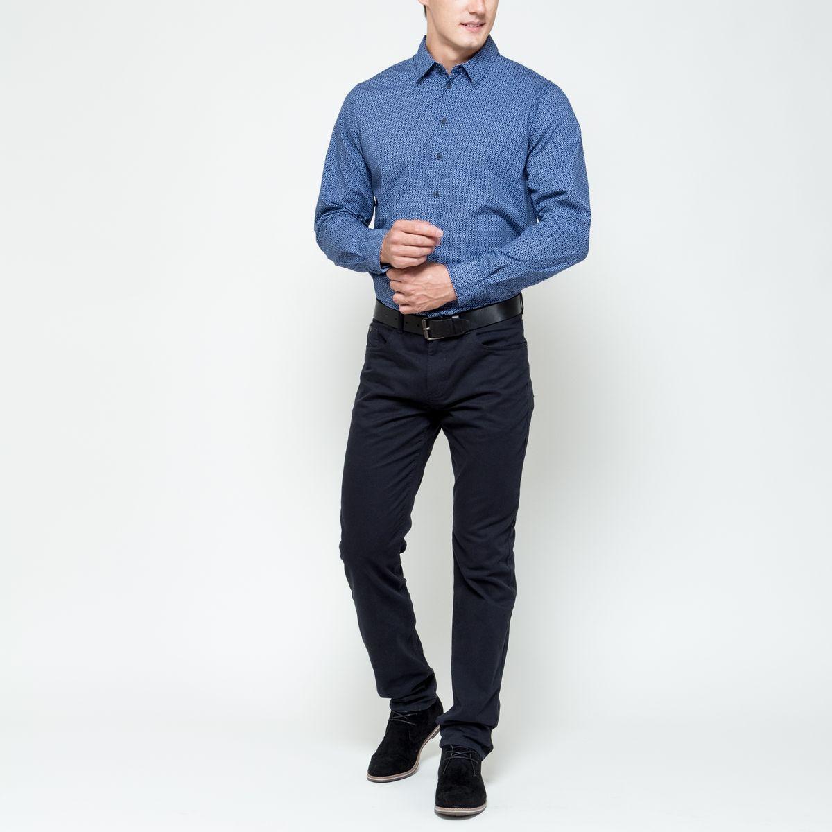 РубашкаH-212/697-6322Стильная мужская рубашка Sela Casual Wear, выполненная из натурального хлопка, позволяет коже дышать, тем самым обеспечивая наибольший комфорт при носке. Модель классического кроя с отложным воротником и длинными рукавами застегивается на пуговицы по всей длине. Модель оформлена оригинальным принтом. Манжеты рукавов дополнены застежками-пуговицами.