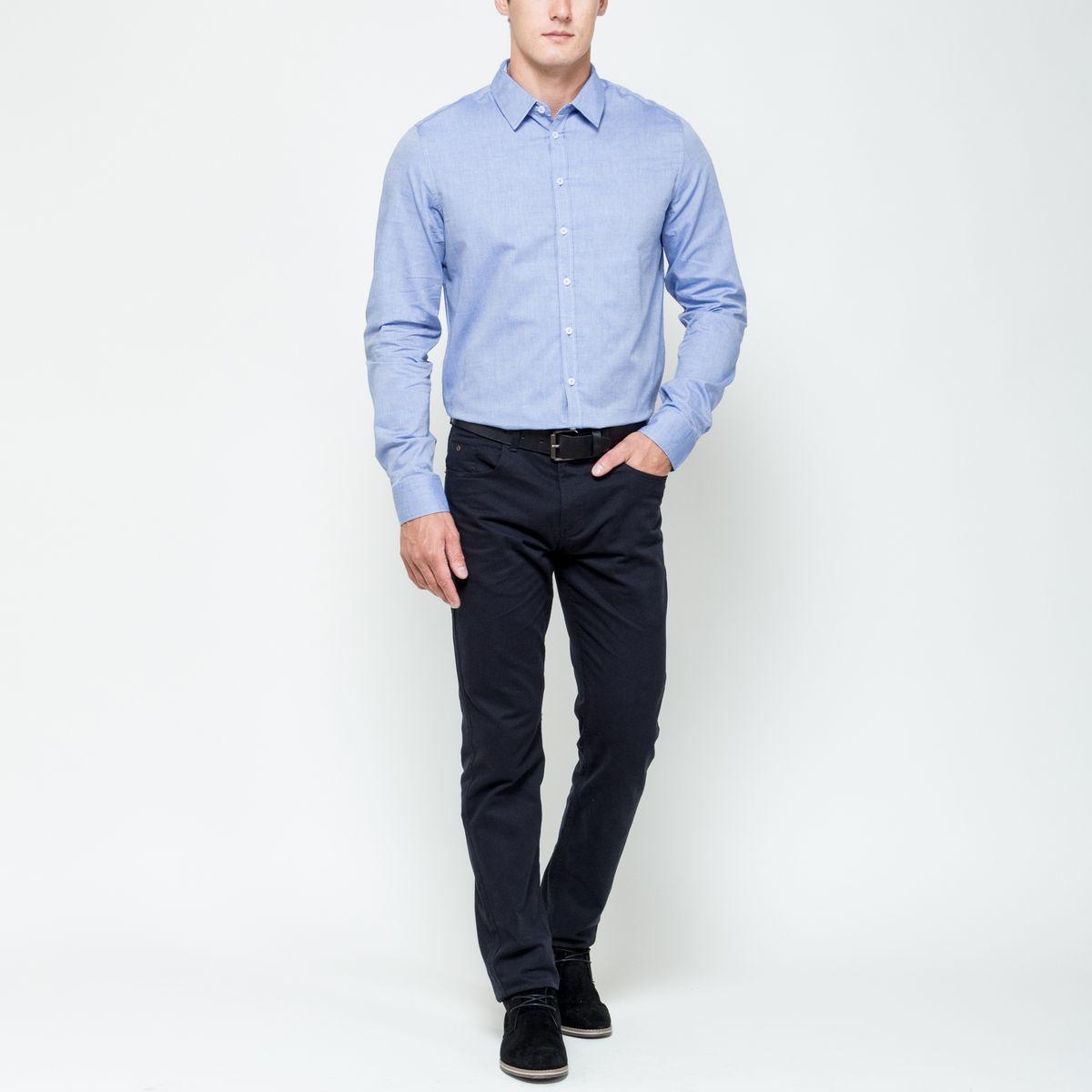РубашкаH-212/701-6321Стильная мужская рубашка Sela, выполненная из натурального хлопка, позволяет коже дышать, тем самым обеспечивая наибольший комфорт при носке. Модель классического кроя с отложным воротником и длинными рукавами застегивается на пуговицы по всей длине. Манжеты рукавов дополнены застежками-пуговицами.