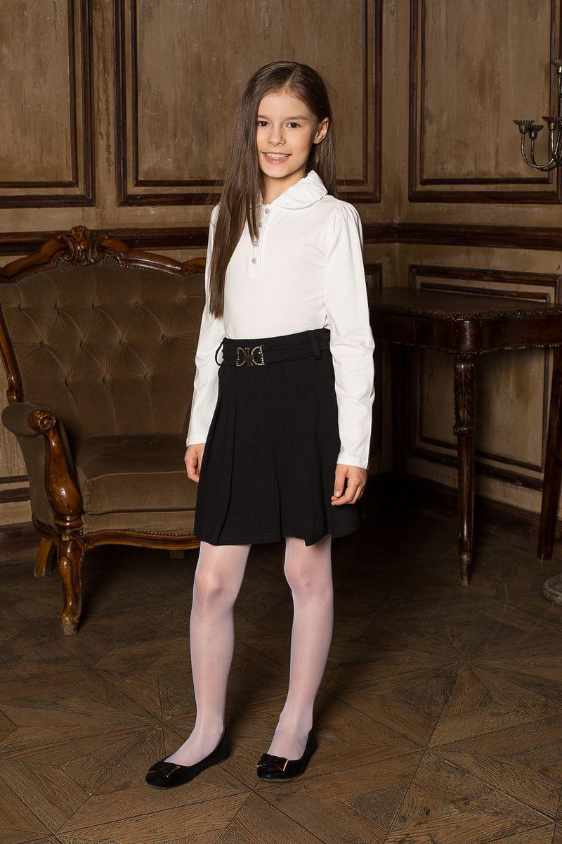 Юбка205638Трикотажная юбка со складками и поясом с декоративной бляшкой. В юбке предусмотрена внутренняя резинка на поясе, что делает модель удобной и комфортной.