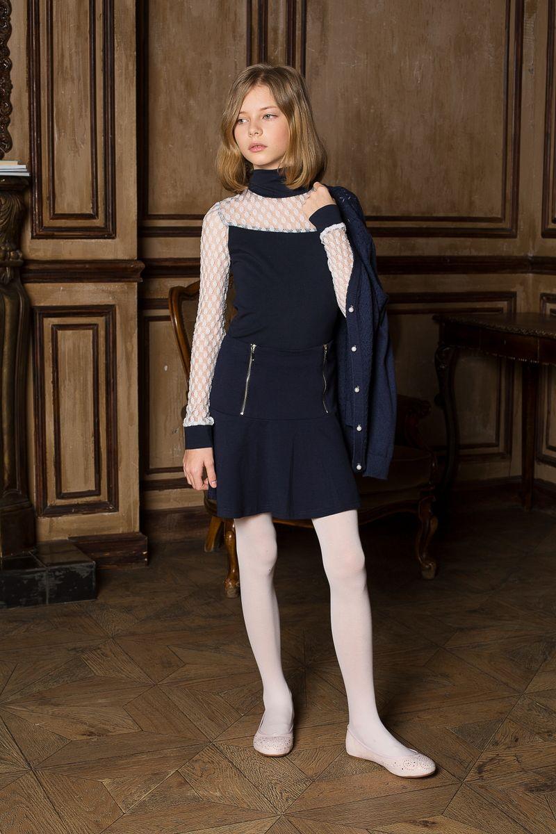 205643Трикотажная юбка на кокетке из качественного натурального трикотажа, декорированная функциональными молниями.