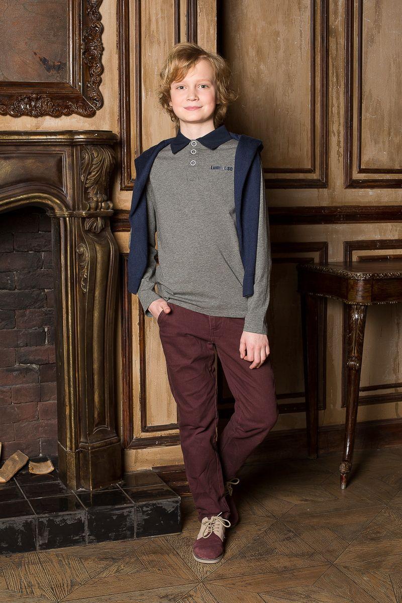 Джемпер206605Джемпер для мальчика с воротником поло, с длинным рукавом, выполнен из качественного натурального трикотажа, что обеспечивает комфортность и простоту в носке.
