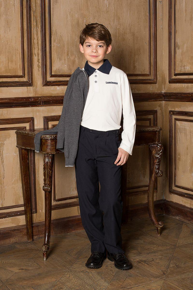 206607Джемпер для мальчика с воротником поло, с длинным рукавом, выполнен из качественного натурального трикотажа, что обеспечивает комфортность и простоту в носке.