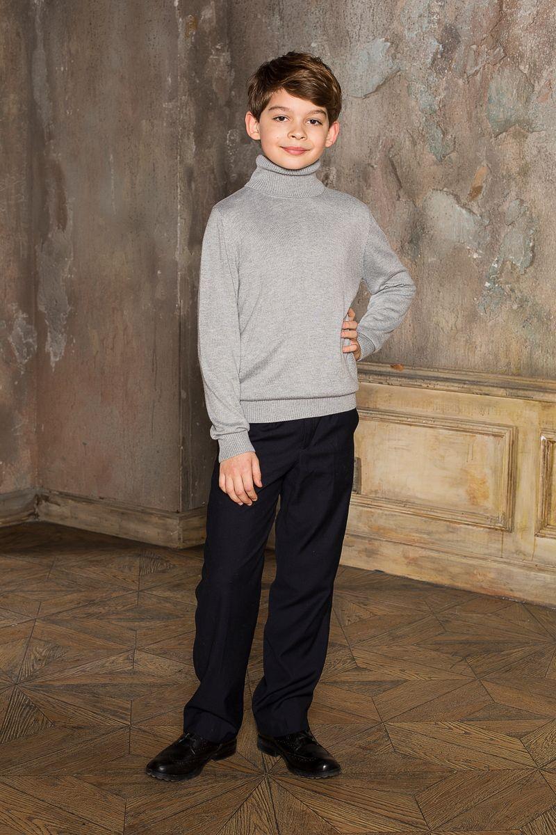 Водолазка206616Вязаная классическая водолазка для мальчика с воротником-гольф. Шерсть и кашемир в составе делают модель очень теплой, мягкой и комфортной.