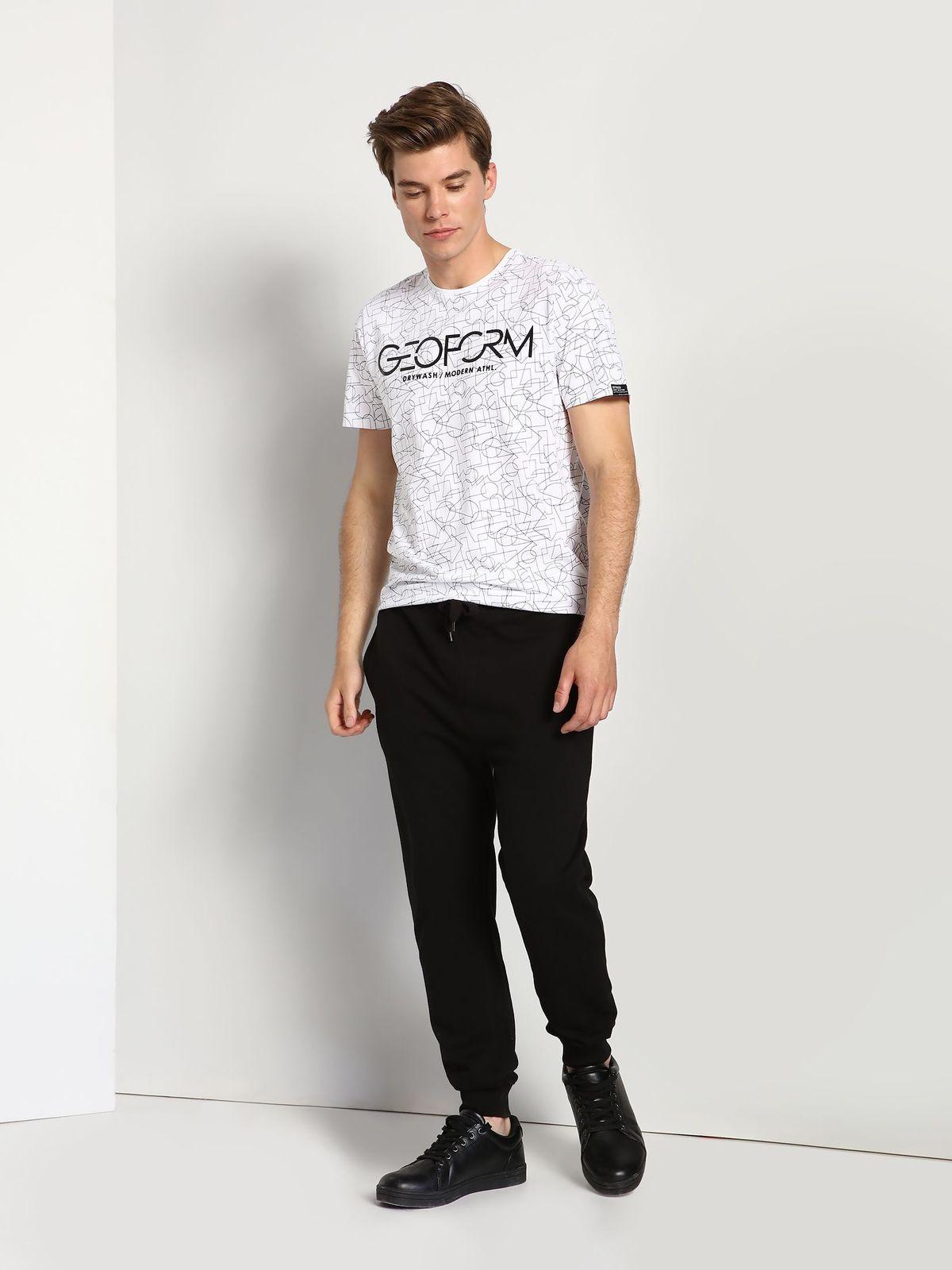 ФутболкаDPO0277BIМужская футболка Drywash выполнена из натурального хлопка. Модель с круглым вырезом горловины оформлена оригинальным принтом и надписями на английском языке.