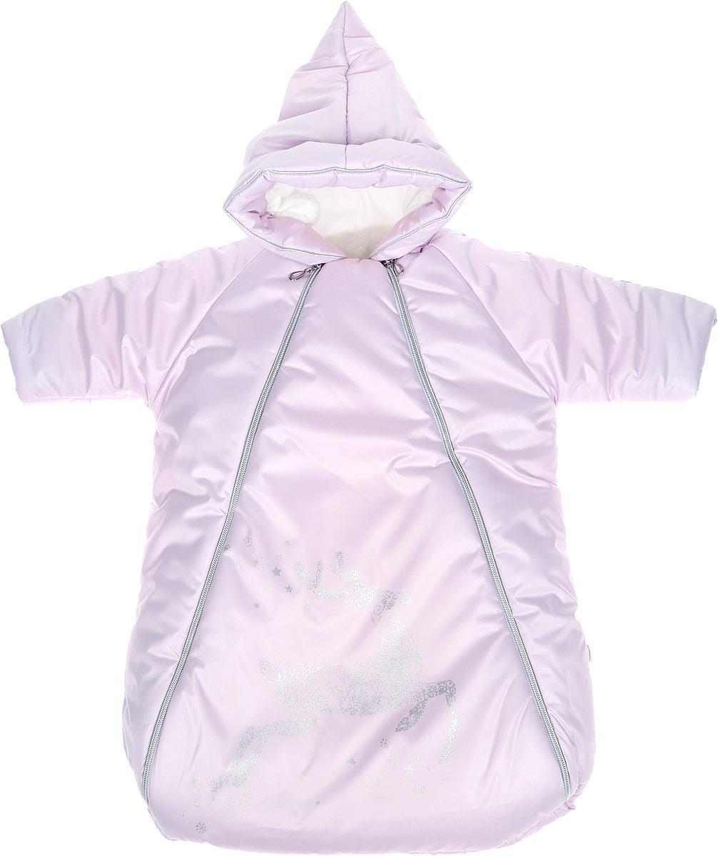 Конверт для новорожденного988/0Зимний конверт для новорожденного Сонный Гномик Созвездие порадует даже самых требовательных мам и согреет малыша в холодную погоду. Конверт изготовлен из специальной синтетической ткани Dewspo (100% полиэстер), которая защищает от дождя и ветра. Меховая подкладка выполнена из шерсти с добавлением полиэстера. В качестве утеплителя используется шелтер (100% полиэстер). Шелтер (Shelter) - утеплитель, состоящий из микроволокон, удачно сочетает непревзойденное тепло натурального пуха и лучшие качества синтетических материалов. Его уникальность состоит в особенности структуры, повторяющей пух. Ультратонкие волокна делают утеплитель мягким, позволяющим ребенку активно двигаться. Утеплитель шелтер максимально защищает от холода, не стесняя движений, позволяя телу дышать. Конверт легко стирается в домашних условиях, быстро сохнет и сохраняет форму. Конверт с несъемным капюшоном и рукавами-реглан закрывается при помощи двух пластиковых молний и клапана на...