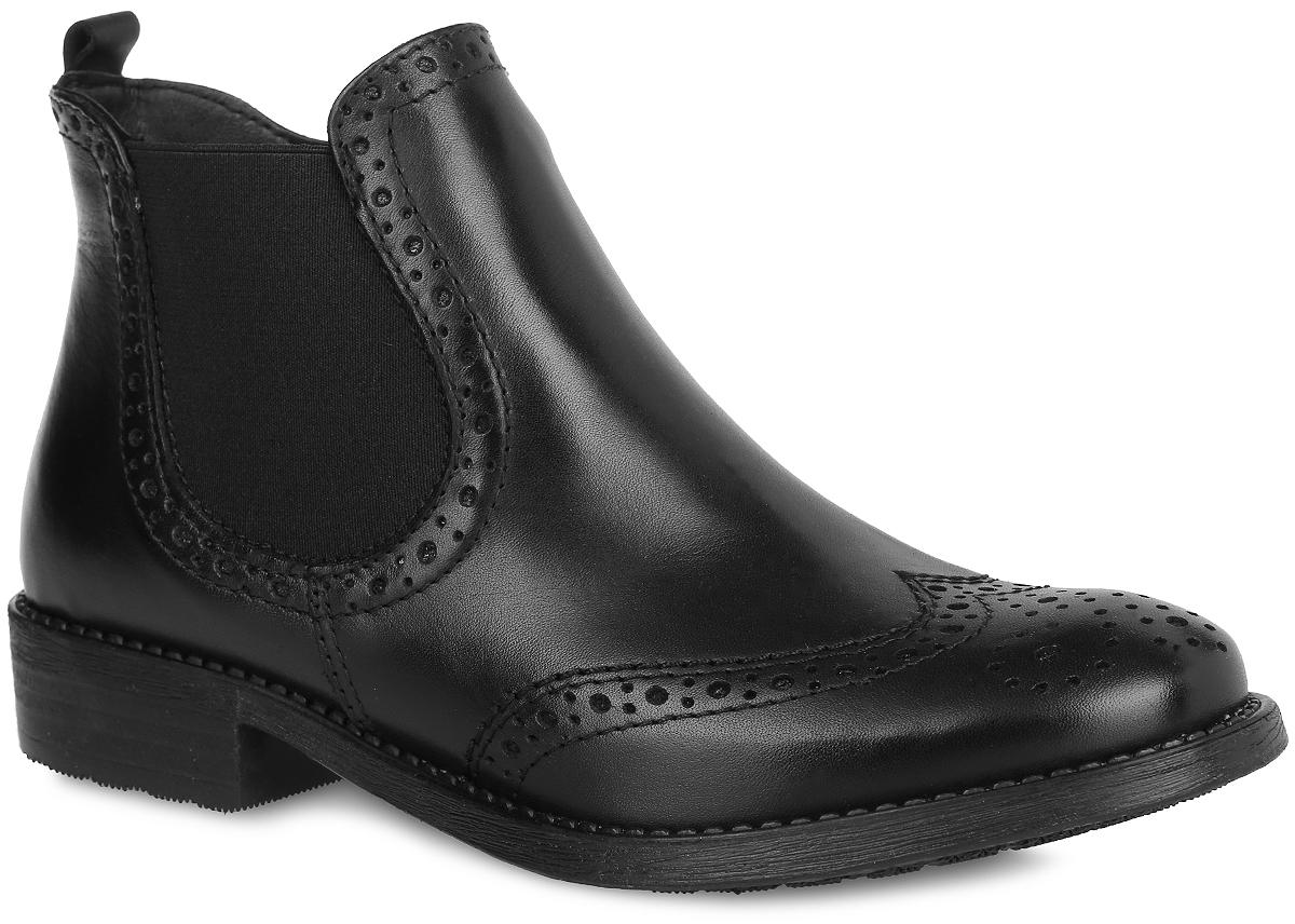 1-1-25493-27-003Стильные женские ботинки от Tamaris заинтересуют вас своим дизайном с первого взгляда! Модель выполнена из натуральной кожи и оформлена декоративной перфорацией, вдоль ранта - декоративной прострочкой. Одна из боковых сторон дополнена эластичной вставкой. Застегивается модель на боковую застежку-молнию. Подкладка, выполненная из текстиля, и стелька из текстиля и искусственной кожи обеспечат комфорт при ходьбе. Небольшой каблук и подошва с рифлением гарантируют отличное сцепление с любой поверхностью. В этих ботинках вашим ногам будет комфортно и уютно. Они подчеркнут ваш стиль и индивидуальность.