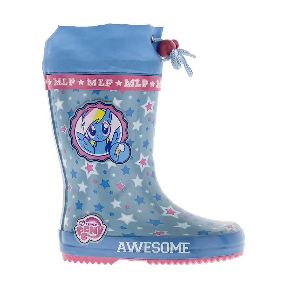 6068CРезиновые сапоги My Little Pony от Kakadu превосходно защитят ноги вашей девочки от промокания в дождливый день. Сапоги выполнены из резины и оформлены изображением лошадки и звездочек. Текстильный верх голенища регулируется в объеме за счет шнурка со стоппером. Рельефная поверхность подошвы гарантирует отличное сцепление с любой поверхностью. Яркая и комфортная обувь с изображениями любимых персонажей порадует юных поклонниц My Little Pony.