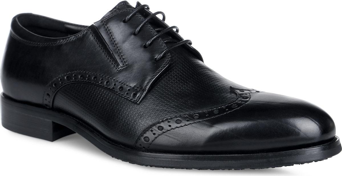 Броги мужские. M23685M23685Стильные мужские броги от Vitacci придутся вам по душе. Модель изготовлена из натуральной кожи и оформлена по верху декоративной перфорацией. Подъем дополнен шнуровкой, которая надежно зафиксирует обувь на вашей ноге. Подкладка из натуральной кожи обеспечивает дополнительный комфорт и предотвращает натирание. Стелька из натуральной кожи позволит ногам дышать. Эластичная подошва выполнена из термополиуретана. Стильные броги - необходимая вещь в гардеробе каждого мужчины.