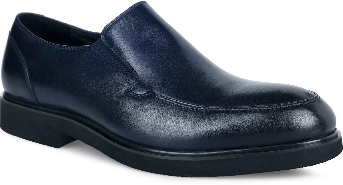 ТуфлиM25092Стильные мужские туфли от Vitacci придутся вам по душе. Модель изготовлена из натуральной кожи. Резинки, расположенные на подъеме, обеспечивают оптимальную посадку обуви на ноге. Подкладка из натуральной кожи обеспечивает дополнительный комфорт и предотвращает натирание. Стелька из натуральной кожи позволит ногам дышать. Эластичная подошва выполнена из термополиуретана. Стильные туфли - необходимая вещь в гардеробе каждого мужчины.