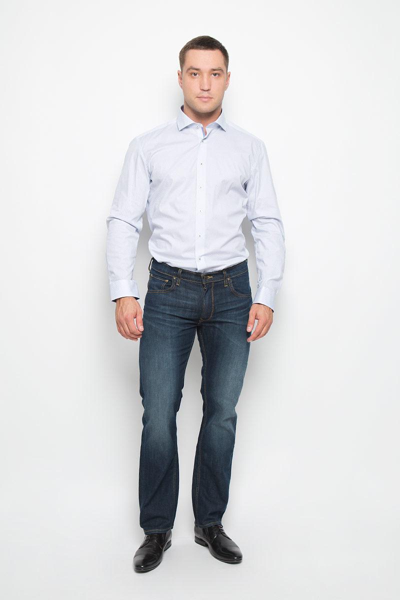 Рубашка мужская. 82938293_11_F142_37-44Стильная мужская рубашка Eterna, выполненная из эластичного хлопка подчеркнет ваш уникальный стиль и поможет создать оригинальный образ. Такой материал великолепно пропускает воздух, обеспечивая необходимую вентиляцию, а также обладает высокой гигроскопичностью. Рубашка с длинными рукавами и отложным воротником застегивается на пуговицы спереди. Манжеты рукавов также застегиваются на пуговицы. Рубашка оформлена принтом в мелкий ромб. Классическая рубашка - превосходный вариант для базового мужского гардероба и отличное решение на каждый день. Такая рубашка будет дарить вам комфорт в течение всего дня и послужит замечательным дополнением к вашему гардеробу.