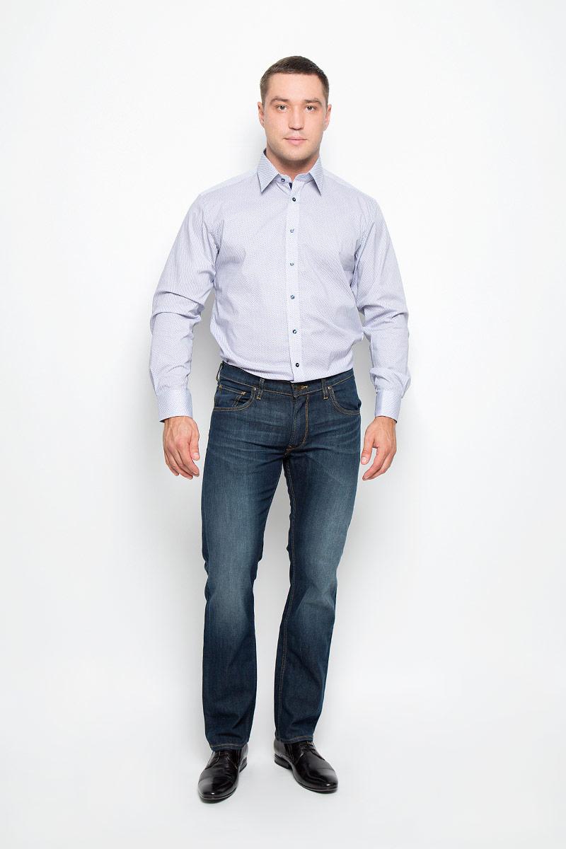 8293_11_F142_37-44Стильная мужская рубашка Eterna, выполненная из эластичного хлопка подчеркнет ваш уникальный стиль и поможет создать оригинальный образ. Такой материал великолепно пропускает воздух, обеспечивая необходимую вентиляцию, а также обладает высокой гигроскопичностью. Рубашка с длинными рукавами и отложным воротником застегивается на пуговицы спереди. Манжеты рукавов также застегиваются на пуговицы. Рубашка оформлена принтом в мелкий ромб. Классическая рубашка - превосходный вариант для базового мужского гардероба и отличное решение на каждый день. Такая рубашка будет дарить вам комфорт в течение всего дня и послужит замечательным дополнением к вашему гардеробу.