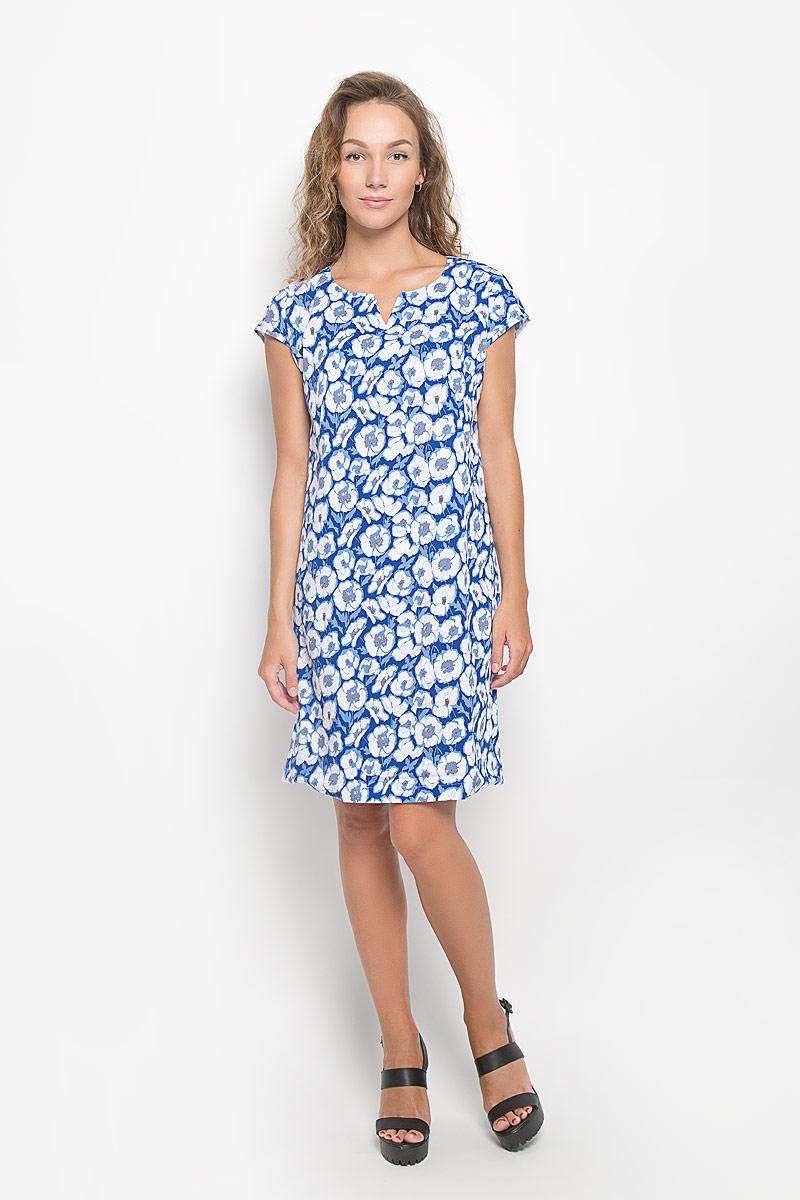 Платье. 160221/160220_13840160221_13840Элегантное платье F5 выполнено из высококачественного комбинированного материала. Такое платье обеспечит вам комфорт и удобство при носке и непременно вызовет восхищение у окружающих. Модель средней длины с короткими цельнокроеными рукавами и V-образным вырезом горловины выгодно подчеркнет все достоинства вашей фигуры. Изделие оформлено оригинальным цветочным принтом. Изысканное платье-миди создаст обворожительный и неповторимый образ. Это модное и комфортное платье станет превосходным дополнением к вашему гардеробу, оно подарит вам удобство и поможет подчеркнуть ваш вкус и неповторимый стиль.