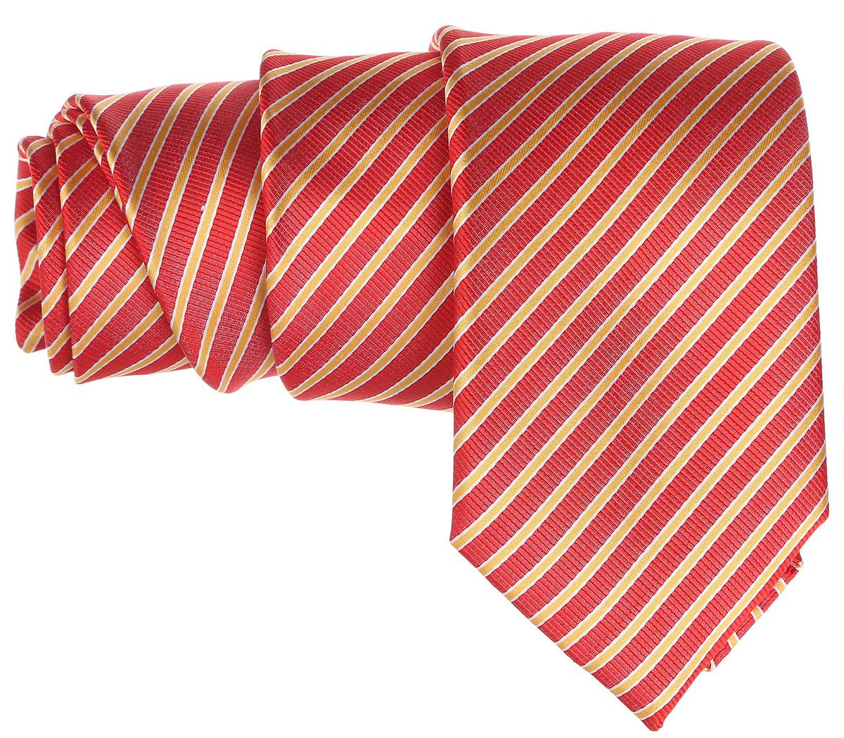 Галстук. 12.01521812.015218Стильный галстук BTC станет отличным завершающим штрихом вашего образа. Этот модный аксессуар порадует вас высоким качеством исполнения и современным дизайном. Изделие полностью выполнено из качественного шелка. Галстук оформлен оригинальным принтом. Такой оригинальный галстук подойдет как к повседневному, так и к официальному наряду, он позволит вам подчеркнуть свою индивидуальность и создать свой неповторимый стиль.