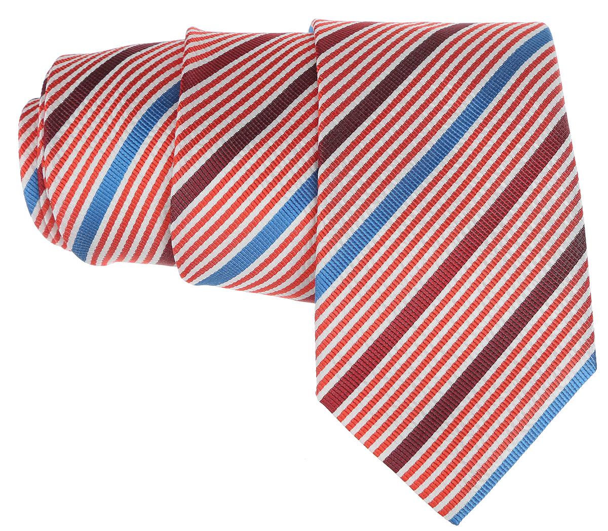 Галстук. 12.01577412.015774Стильный галстук BTC станет отличным завершающим штрихом вашего образа. Этот модный аксессуар порадует вас высоким качеством исполнения и современным дизайном. Изделие полностью выполнено из качественного шелка. Галстук оформлен оригинальным принтом. Такой оригинальный галстук подойдет как к повседневному, так и к официальному наряду, он позволит вам подчеркнуть свою индивидуальность и создать свой неповторимый стиль.
