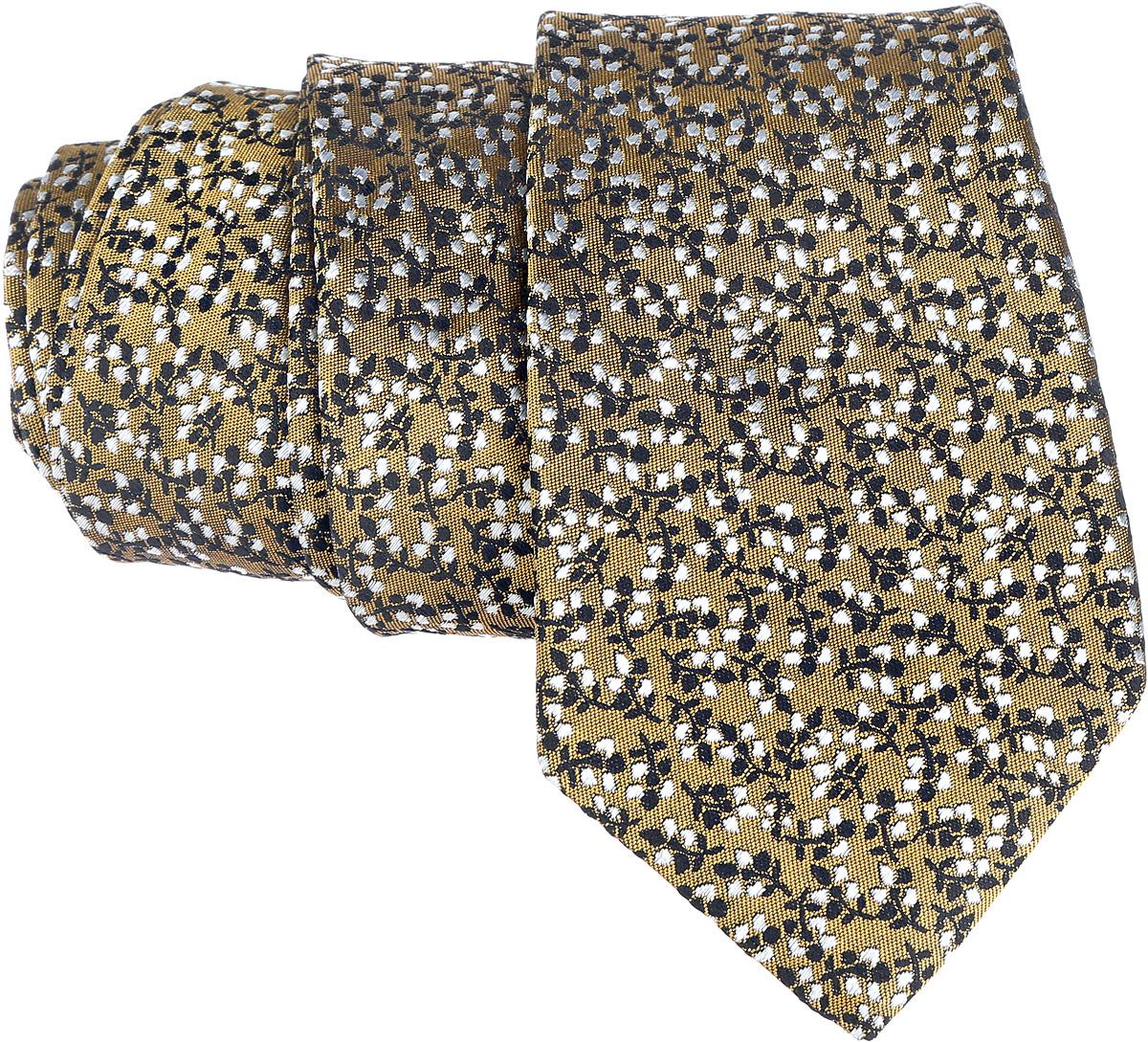 Галстук. 12.01411012.014110Стильный галстук BTC станет отличным завершающим штрихом вашего образа. Этот модный аксессуар порадует вас высоким качеством исполнения и современным дизайном. Изделие полностью выполнено из качественного шелка. Галстук оформлен оригинальным принтом. Такой оригинальный галстук подойдет как к повседневному, так и к официальному наряду, он позволит вам подчеркнуть свою индивидуальность и создать свой неповторимый стиль.