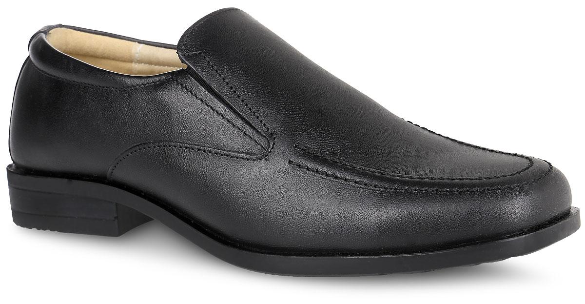 Туфли для мальчика. 11418-111418-1Стильные туфли Зебра придутся по душе вашему мальчику. Модель выполнена из натуральной высококачественной кожи и оформлена на мысе декоративным швом. Эластичные вставки по бокам обеспечивают наилучшую посадку модели на ноге. Внутренняя поверхность из натуральной кожи не натирает. Стелька из материала ЭВА с поверхностью из натуральной кожи дополнена супинатором, который обеспечивает правильное положение стопы ребенка при ходьбе и предотвращает плоскостопие. Рифление на подошве обеспечивает отличное сцепление с любой поверхностью. Такие туфли займут достойное место среди коллекции обуви вашего ребенка.