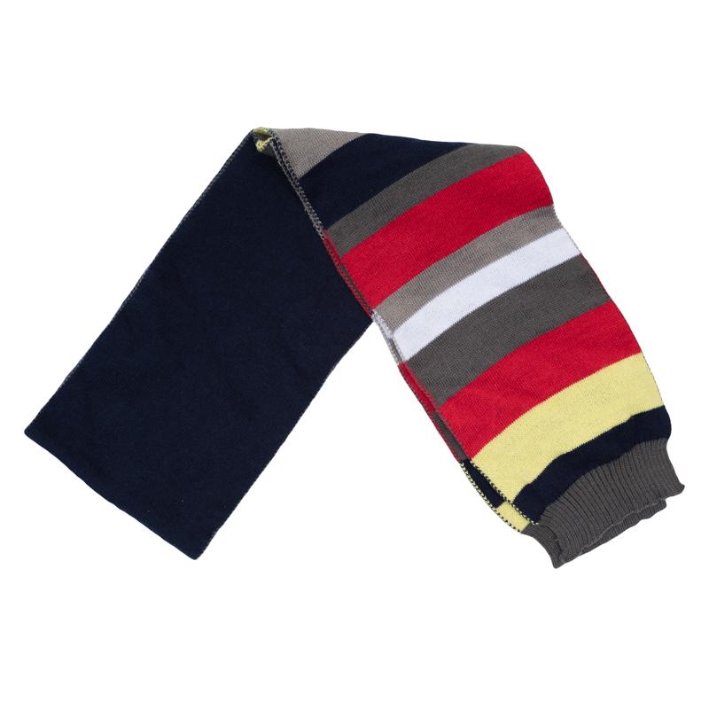 Шарф для мальчиков. 361037361037Уютный вязаный шарф с яркими полосками. Дополнит стильный образ и надежно защитит от ветра.