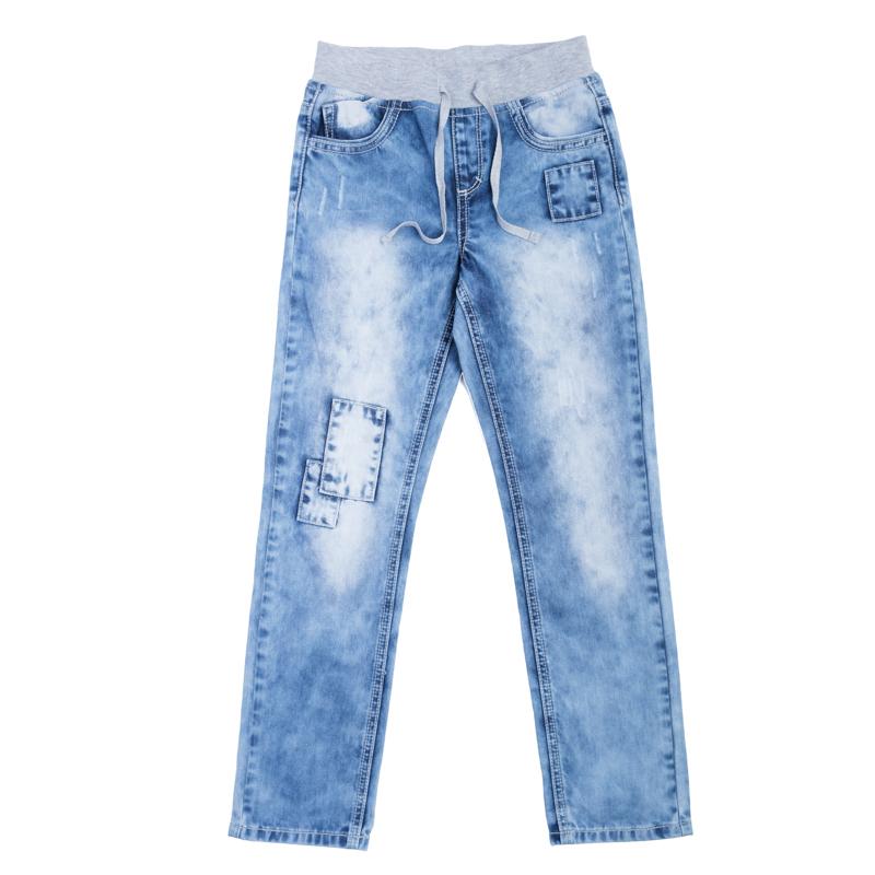 Джинсы361059Очень стильные вареные джинсы с зауженным силуэтом. Пояс на серой трикотажной резинке, дополнительно регулируется тесьмой. Классическая пятикарманка.