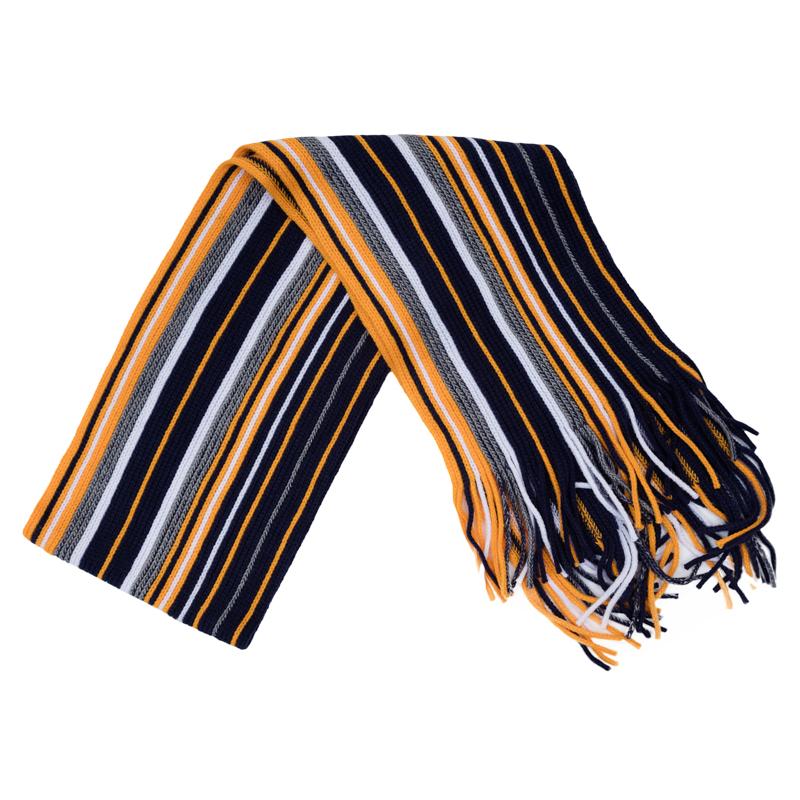 Шарф для мальчиков. 361085361085Уютный шарф из вязаного трикотажа в цветную полоску. Надежно защитит от ветра и дополнит стильный образ.