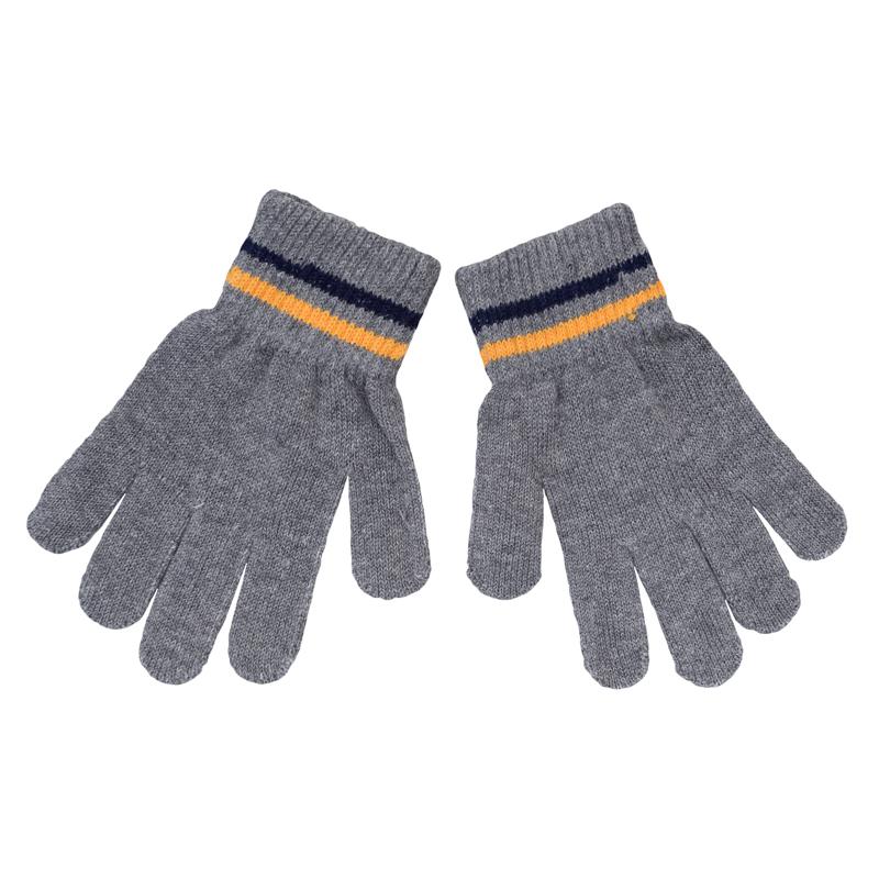 Перчатки для мальчиков. 361091361091Теплые перчатки из вязаного трикотажа. Верх на мягкой резинке с яркими полосками.