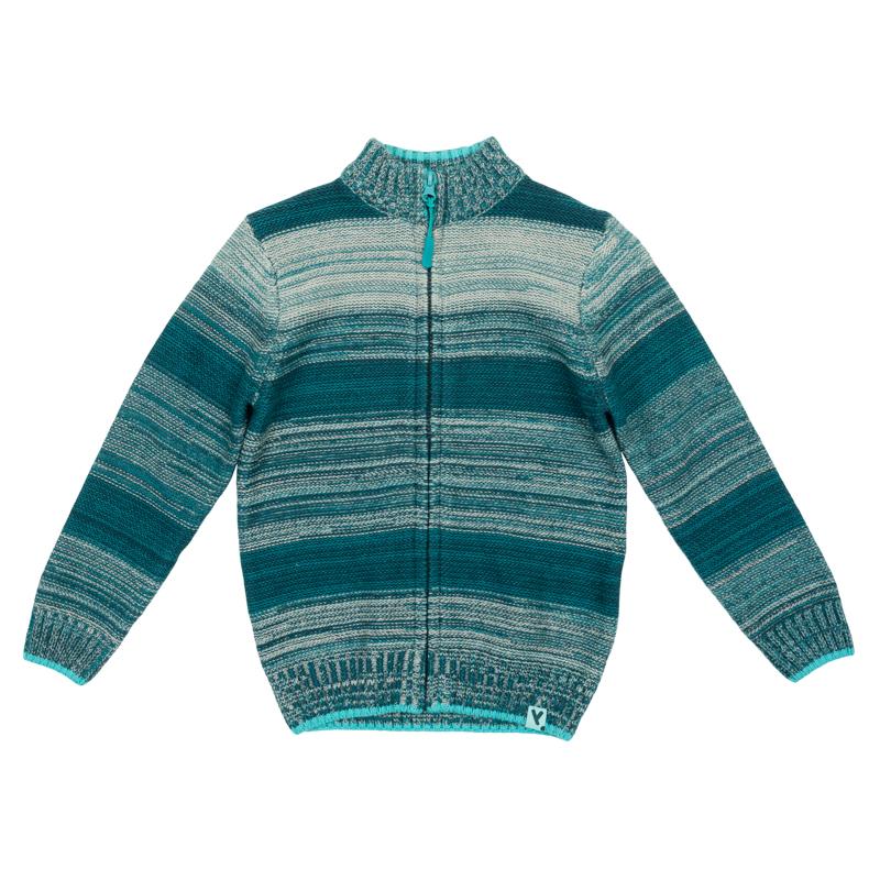 Свитер для мальчиков. 361110361110Уютный свитер из вязаного трикотажа. Стильный цвет бирюзовый меланж. Высокий воротник надежно защитит от ветра. Рукава и низ на мягкой вязаной резинке.